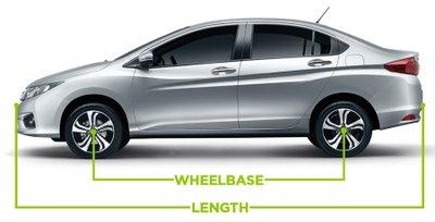 chiều dài cơ sở là khoảng cách từ tâm bánh xe ở trục trước đến tâm bánh xe ở trục sau.