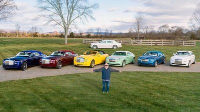 Michael Fux sở hữu 10 chiếc Roll-Royce với những màu sắc khác nhau