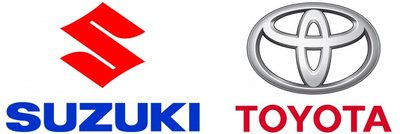 logo Suzuki và Toyota