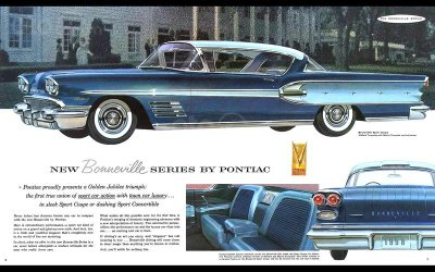 Pontiac Bonneville 2rd Hardtop 1958.