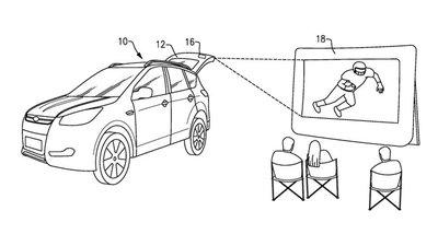 Ford lên kế hoạch biến các dòng xe của mình thành rạp chiếu phim di động a1