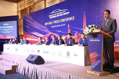 Đại diện của Toyota Việt Nam phát biểu tại họp báo VMS 2019.
