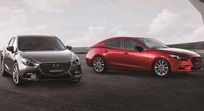 Ngoại thất của Mazda 3.