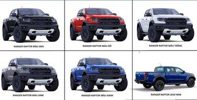 Màu xe Ford Ranger Raptor 2020