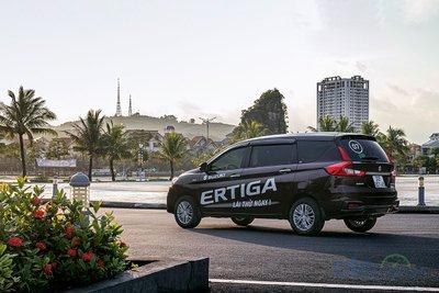 Thiết kế thân xe mạnh mẽ của Suzuki Ertiga 2019.