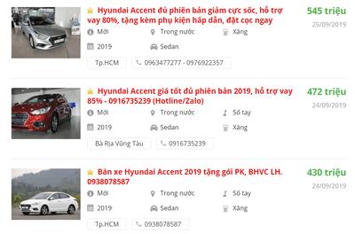 Giá bán xe Hyundai Accent 2019