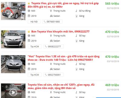 Đại lý Toyota đang ưu đãi, giảm giá những mẫu xe nào? a11