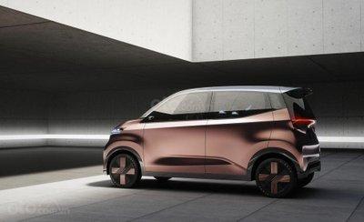 Nissan IMk Concept hồng ánh vàng không có cửa