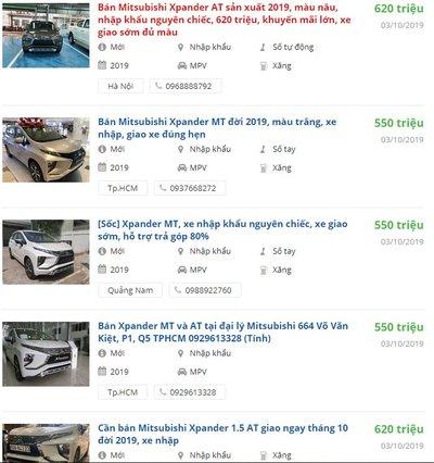 Giá xe Mitsubishi Xpander 2019 a