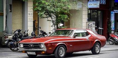 """Tóm gọn """"ngựa hoang"""" Ford Mustang Grande 1971 trên phố Sài Gòn a1"""