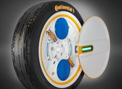 Continental AG phát triển lốp xe C.A.R.E có thể tự bơm lên khi xe di chuyển.
