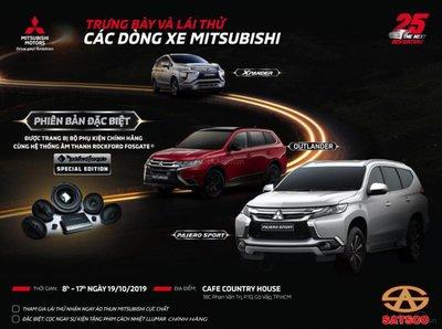 Chương trình trải nghiệm và lái thử cùng Mitsubishi Satsco.