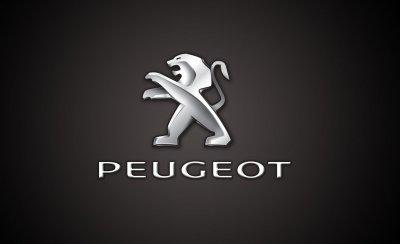 Logo xe Peugeot.