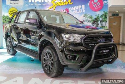 Ford Ranger Splash trình làng Malaysia với giá 771 triệu đồng