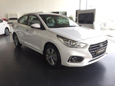 Xe ô tô Hyundai Accent 2019 màu trắng 1