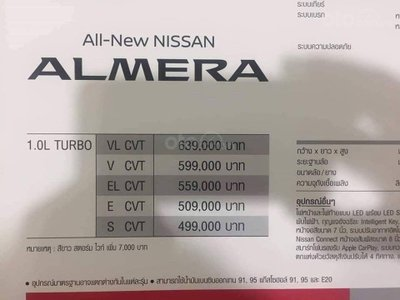 Nissan Sunny 2020 - Price