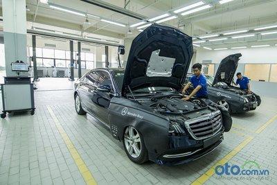 Mercedes-Benz Vietnam Star Bình Dương: khu vực xưởng.