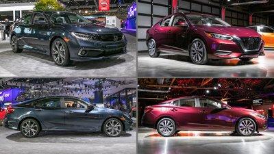 So sánh Nissan Sentra 2020 và Honda Civic 2020.