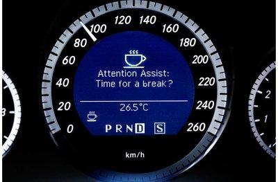 Đèn báo tập trung người lái.