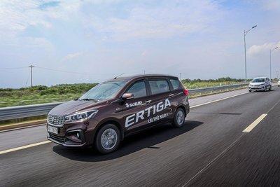 Doanh số Suzuki Ertiga giảm 160 xe so với tháng 7.