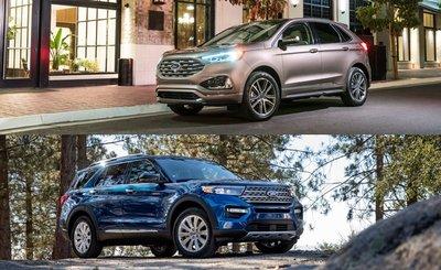 So sánh xe Ford Explorer 2020 và Ford Edge 2020 - Kiểu dáng đều chuẩn Mỹ