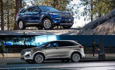 So sánh xe Ford Explorer 2020 và Ford Edge 2020