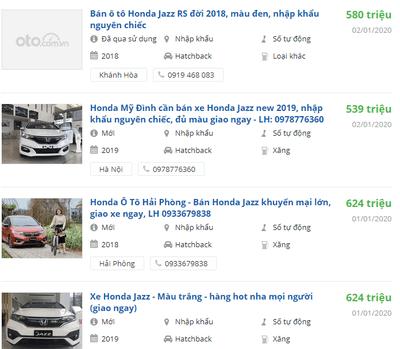 Giá xe Honda Jazz 2020 bao nhiêu?.