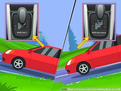 cách đỗ xe ngang dốc an toàná