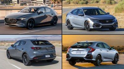 So sánh Honda Civic 2020 và Mazda 3 2020