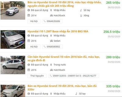 Với 300 triệu, bạn có thể chọn Hyundai i10 các đời 2015, 2016 và 2017