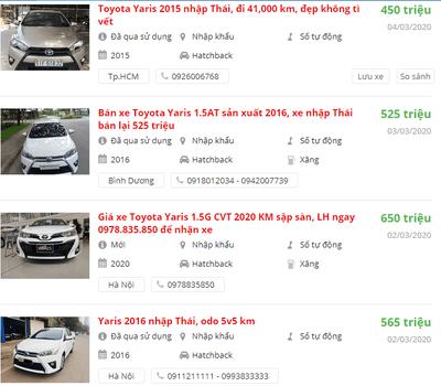 Toyota Yaris2020 có khuyến mại gì.