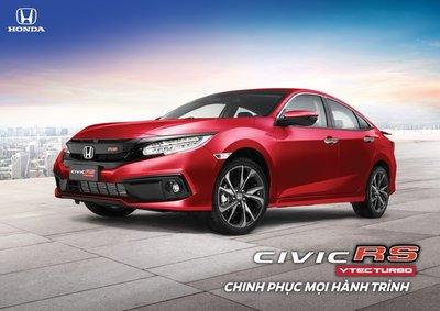 Honda Civic RS thêm màu sơn đỏ cá tính, thay thế đỏ đam mê.