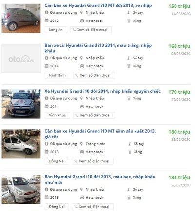 Rao bán xe Hyundai Grand i10 cũ đời 2013-2015 1