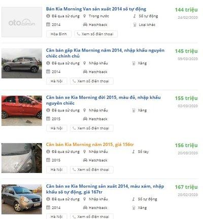 Rao bán xe Kia Morning cũ đời 2014-2016 1