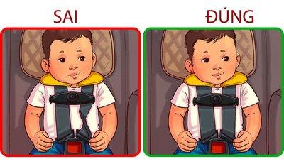 Dây đai an toàn bị xoắn cũng ảnh hưởng xấu đến trẻ em