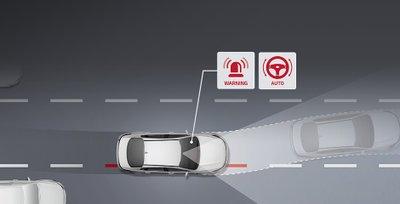 Hỗ trợ giữ làn đường không chỉ cảnh báo lái xe mà còn tự động điều chỉnh c.hính xác