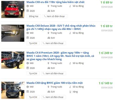 Giá xe Mazda CX-8 2020 a1