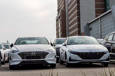 Ảnh chụp trước xe Hyundai Elantra 2021