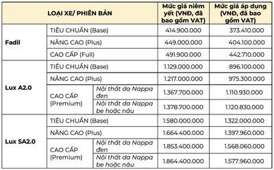 Khuyến mại khi mua xe VinFast mới nhất: Ưu đãi lên tới gần 300 triệu đồng -Ảnh 1.