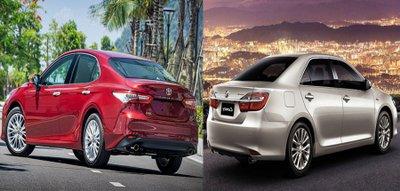 Giá bán của Toyota Camry nhập khẩu và lắp ráp trong nước.