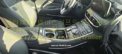 Nội thất Hyundai Santa Fe mới chộp được tại Hàn Quốc.