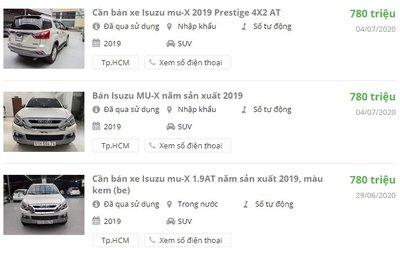Isuzu Mu-X 2019 đã qua sử dụng giá 780 triệu có đáng mua? 1