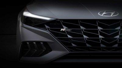 Hyundai Elantra N Line 2021 còn nhiều bí ẩn.