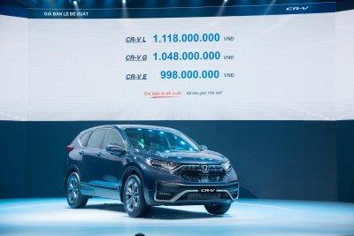Honda CR-V 2020 mới ra mắt thị trường Việt.