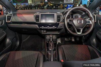 Khoang nội thất Honda City 2020 dành cho thị trường Thái Lan...