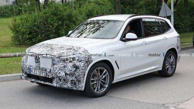 BMW X3 2022 facelift chạy thử hé lộ thiết kế.