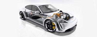 Porsche Taycan sở hữu hàng loạt yếu tố phát triển hiện đại.
