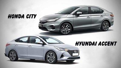 Ảnh Honda City 2020 và Hyundai Accent 2020