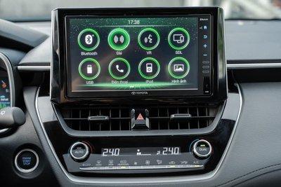 Ảnh màn hình xe Toyota Corolla Cross 2020