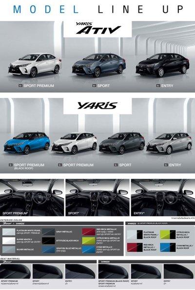 Toyota Yaris 2020 facelift và Ativ sở hữu nhiều tùy chọn cá nhân hóa đa dạng.